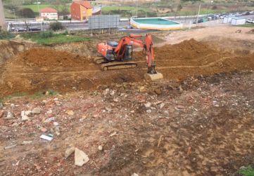 Vista excavación desde arriba del talud