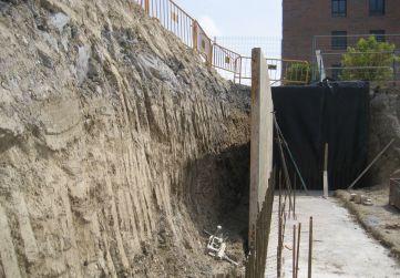 zona de muro a dos carras