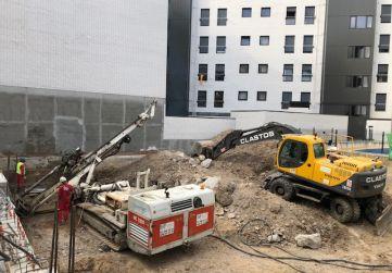 trabajos de excavación