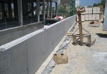 muro acceso garaje