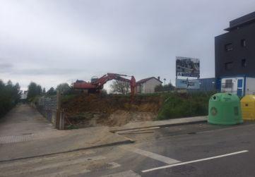 Inicio de obra, excavación