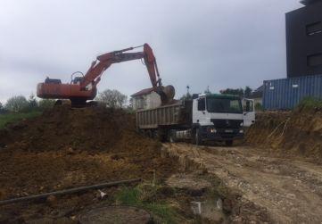 Trabajo de excavación