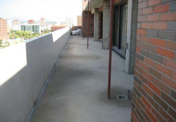 Formación de pendientes zona de terraza