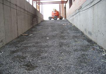 Preparación rampa entrada garaje